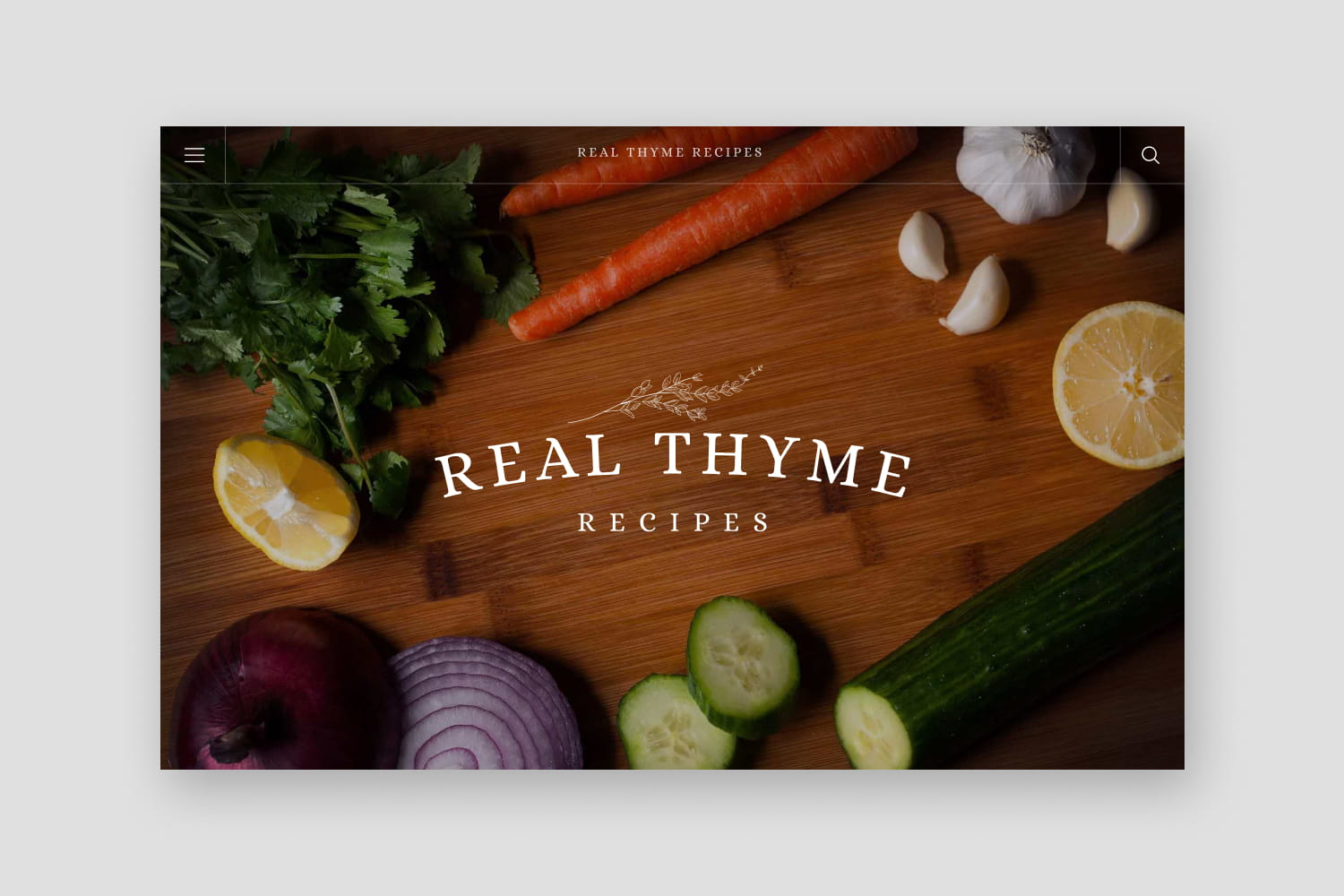 Real Thyme Recipes